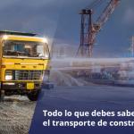 transporte de construcción